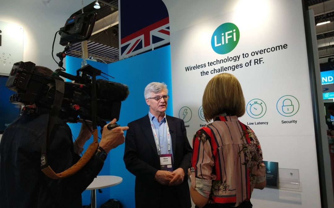 PureLiFi demonstrates Gigabit LiFi at the Mobile World Congress 2019